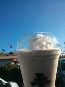 Burgerville Pumpkin Milkshake