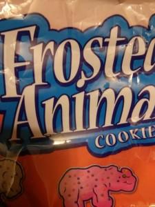 この白と蛍光ピンクのクッキーが旨い〜