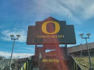 オレゴン大学の看板
