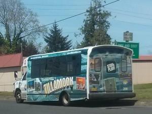 ティムックを走るバス