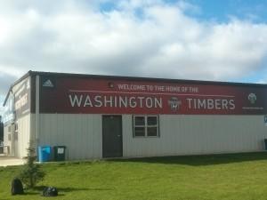 わ~ワシントン州のティンバーズ、リッチだわー。こんな倉庫まで。