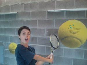 息子2、テニス練習楽しかったみたいで気分がのってます〜